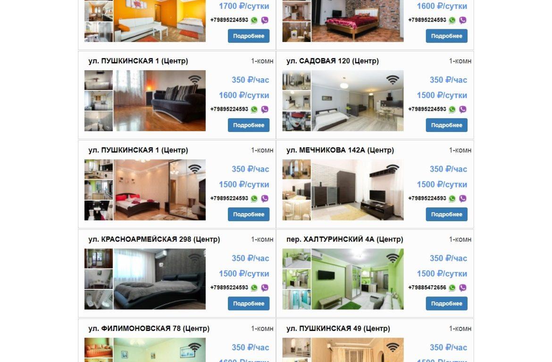 Посуточная сдача квартир